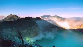 Krajobraz, Kawah Ijen popularny punkt zwrotny zbiory