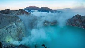Krajobraz, Kawah Ijen popularny punkt zwrotny zbiory wideo