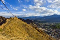 Krajobraz Leh, Ladakh Obrazy Royalty Free