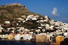 Krajobraz Leros wyspa, Dodecanese wyspy, Grecja Fotografia Stock