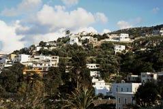 Krajobraz Leros wyspa, Dodecanese wyspy, Grecja Obrazy Royalty Free
