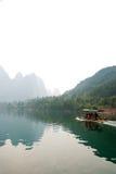 Krajobraz Li rzeka w zimie, Guilin, Chiny Fotografia Stock