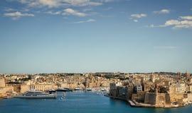 Krajobraz los angeles Valletta, Malta Fotografia Stock
