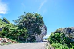 Krajobraz Mały Liuqiu, indianin skała i Guanyin skała, obraz stock