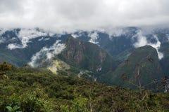 Krajobraz Mach Picchu, wspinaczkowa Machu Picchu góra Fotografia Royalty Free