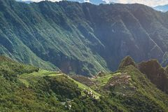 Krajobraz machu picchu antyczny miasto Obraz Royalty Free