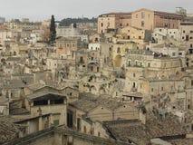 Krajobraz Matera miasta sud Włochy sławny miasto z sassi Matera obrazy royalty free