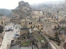 Krajobraz Matera miasta sud Włochy sławny miasto z sassi Matera obraz royalty free