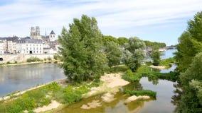 Krajobraz miasto Orléans, Francja zdjęcie wideo