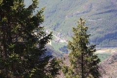 Krajobraz, monte Grappa, Włochy Zdjęcie Stock
