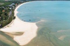 Krajobraz morze i miasteczko w Tajlandia Zdjęcia Royalty Free