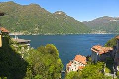 Krajobraz na Como jeziorze Fotografia Royalty Free