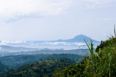 Krajobraz natura wokoło Taal jeziora, Tagaytay, Cavite, Philippi Obrazy Royalty Free