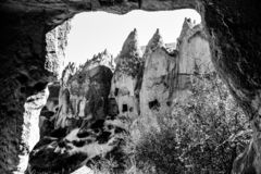 Krajobraz naturalna rockowej formaci wyobraźnia lub Devrent dolina, Cappadocia, Goreme, Turcja obraz royalty free