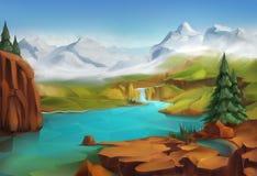 Krajobraz, natury tło ilustracja wektor