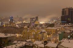 Krajobraz noc Kyiv Obraz Stock
