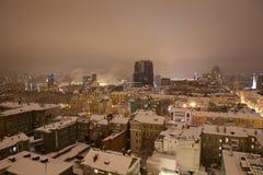 Krajobraz noc Kyiv Fotografia Stock