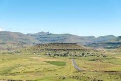 Krajobraz obok drogi R65 pobliskiej góry Fletcher fotografia stock