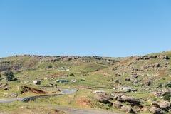 Krajobraz obok drogi R65 pobliskiej góry Fletcher obraz royalty free