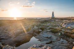 Krajobraz ocean Bretagne Francja obraz royalty free