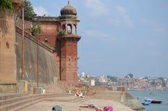 Krajobraz ochraniał Ganges rzekę w India Zdjęcie Royalty Free