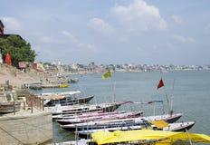 Krajobraz ochraniał Ganges rzekę w India Zdjęcie Stock