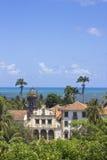 Krajobraz od antycznych budynków w Olida, Recife Brazylia zdjęcie stock