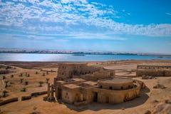 Krajobraz od Gaafar ecolodge Siwa Egipt Zdjęcia Stock