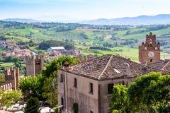 Krajobraz od Gradara kasztelu, Italy Fotografia Royalty Free