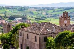 Krajobraz od Gradara kasztelu, Italy Zdjęcie Stock