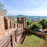 Krajobraz od Gradara kasztelu, Italy Obrazy Stock