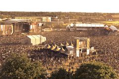 Krajobraz od Hellfest festiwalu mainstage Obrazy Royalty Free