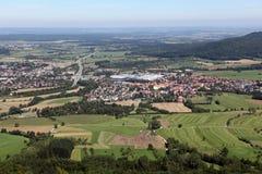 Krajobraz od Hohenzollern Zdjęcia Stock