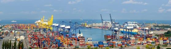 Krajobraz od ptasiego widoku ładunków statki Obraz Royalty Free