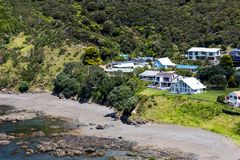 Krajobraz od Russell blisko Paihia, zatoka wyspy, Nowa Zelandia Obrazy Royalty Free