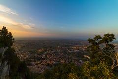 Krajobraz od San Marino fotografia royalty free