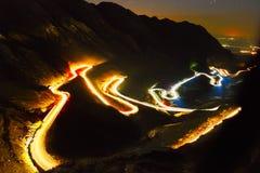 Krajobraz od skalistych Fagaras gór w Rumunia w sumie Zdjęcie Royalty Free