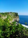 Krajobraz od Uluwatu świątyni Zdjęcie Royalty Free