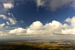 Krajobraz od wysokości above Obraz Stock