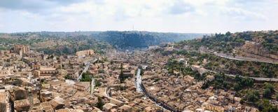 Krajobraz odrobiny, Sicily, Włochy Zdjęcie Stock