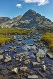 Krajobraz Orlovets szczyt od Elenski jezior, Rila góra Obraz Stock