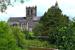 krajobraz Paisley opactwo w wiejskim położeniu Zdjęcie Stock