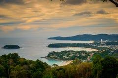 Krajobraz Phuket widoku punkt, Karon plaża i Kat plaża, Obraz Royalty Free