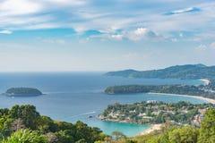 Krajobraz Phuket widoku punkt, Karon plaża, Kat plaża, Brać f Fotografia Stock