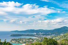 Krajobraz Phuket widoku punkt, Karon plaża, Kat plaża, Brać f Obraz Royalty Free