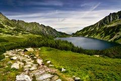 Krajobraz Pięć jezior Dolinnych w Tatras górze Obrazy Royalty Free