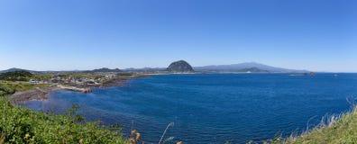 Krajobraz południowo-zachodni wybrzeże Jeju wyspa fotografia royalty free
