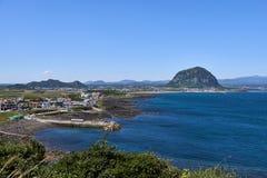 Krajobraz południowo-zachodni wybrzeże Jeju wyspa obrazy royalty free