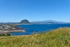 Krajobraz południowo-zachodni wybrzeże Jeju wyspa zdjęcie stock