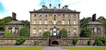 Krajobraz pollock domu pollock z formalnych ogródów kraju parkiem Glasgow obrazy stock